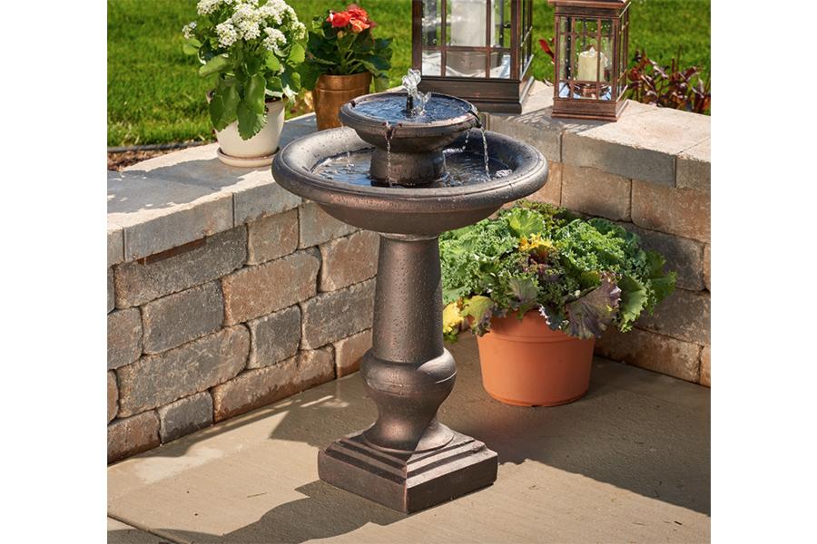fuente solar jardin